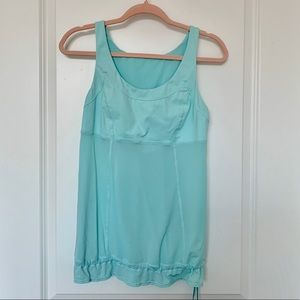 LULULEMON Sea Foam Blue Workout Tank Top